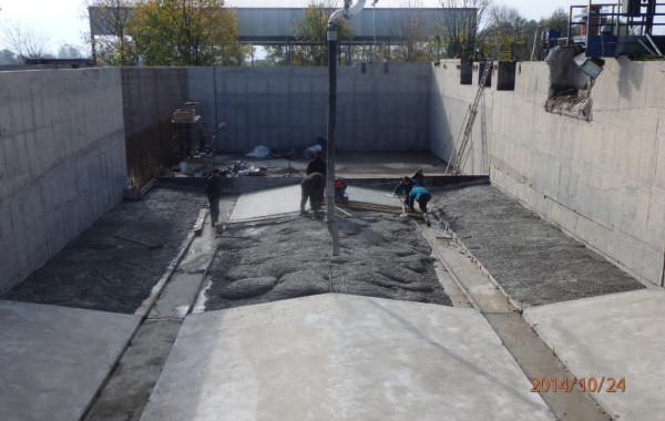 Modernizacja żelbetowego zbiornika retencyjnego na Oczyszczalni Ścieków Busko Zdrój