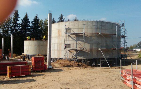 Budowa Zbiornika wody surowej i uzdatnionej dla SUW w Henrysinie