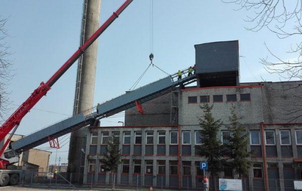 Modernizacja konstrukcji podpierającej taśmociąg nawęglania ciepłowni