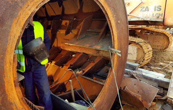Remont płuczki i przesiewacza w kopalni pod Kielcami